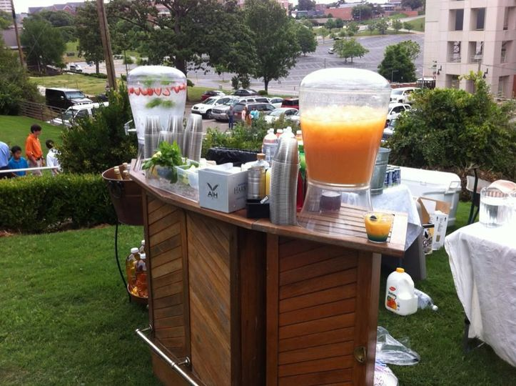 Bar set-up outdoors