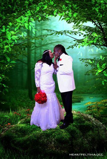 Creative wedding imagery