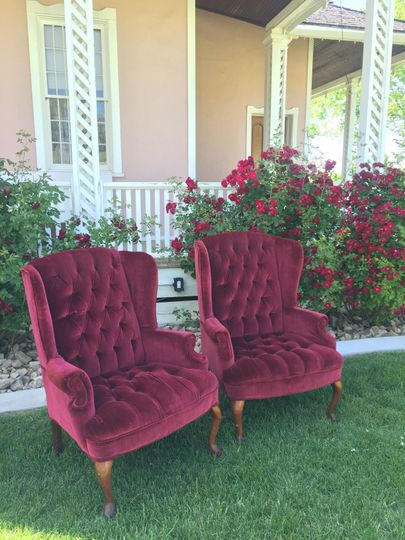Red wine chairs