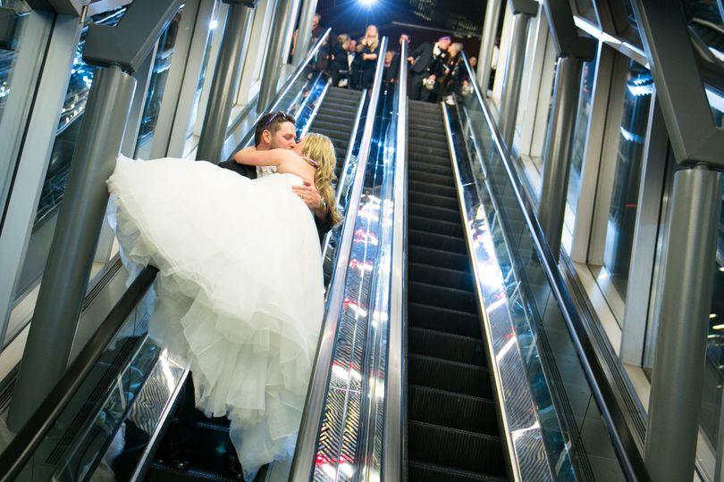 Escalator exit
