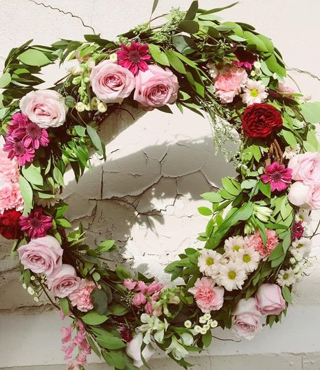 Magical floral wreath
