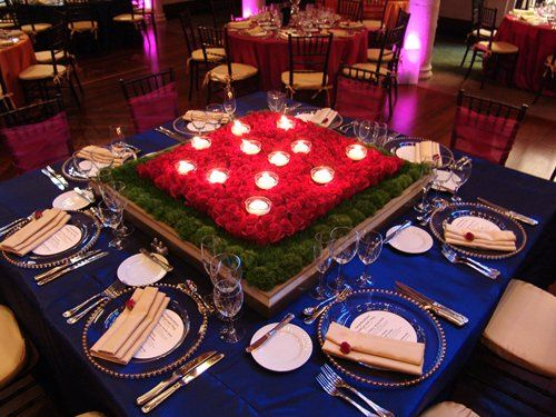 Bridal party table at Moroccan style wedding.