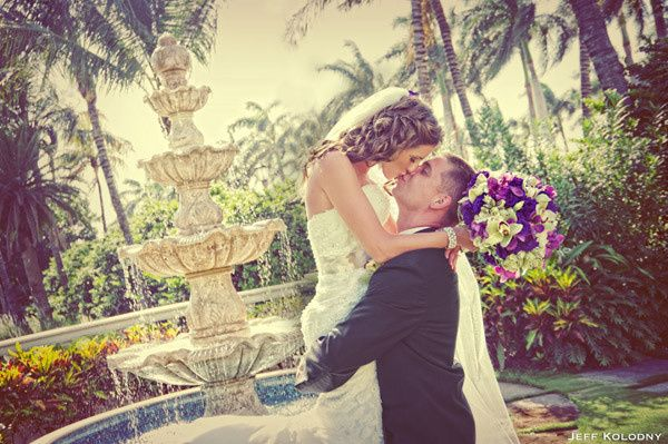 Bride and Groom photo taken at The Breakers in Palm Beach, FL.Call us at 561 965 9582 or visit our...