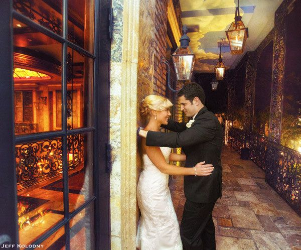 Bride and Groom share a moment during their wedding at the Cruz building in Coconut Grove, Florida.