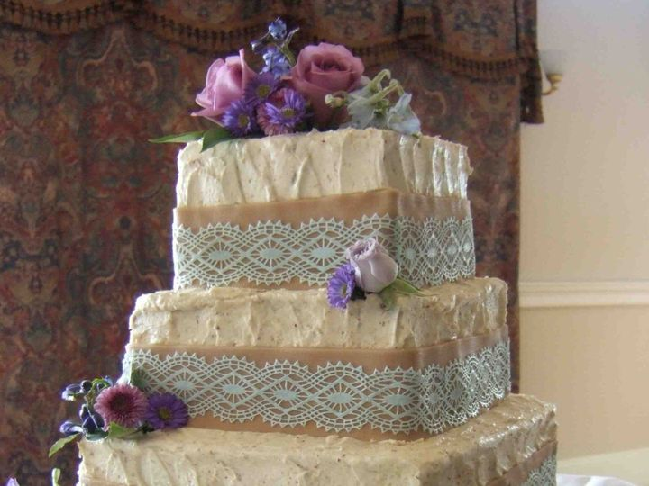 Tmx 1456183389918 Wedding Burlap Blue Lace Hopedale wedding cake
