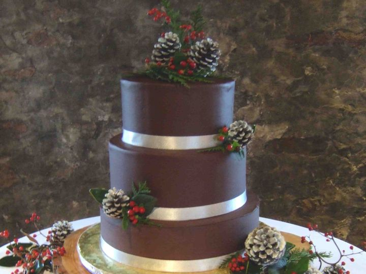 Tmx 1456183534300 Ganache Pines Berries Hopedale wedding cake