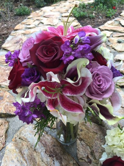 Shades of Lavender, Lilies and Hydrangeas