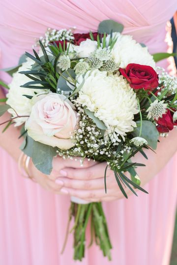 Pink Roses, Red Spray Roses and