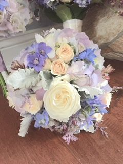 Lavender, White and Bush Bouquet with Hyacinth by Alta Fleura