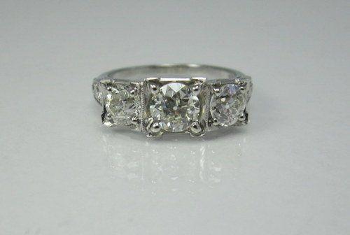 Tmx 1357320037491 Threestoneestatering Raleigh wedding jewelry