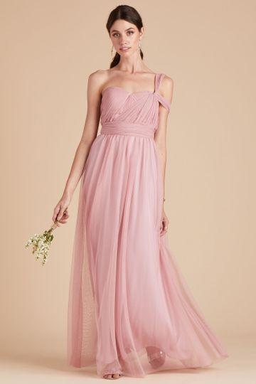 Christina Convertible Tulle Bridesmaid Dress in Dusty Rose | Birdy Grey