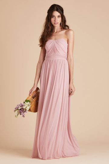 Chicky Convertible Bridesmaid Dress in Dusty Rose | Birdy Grey