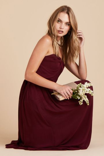 Chicky Convertible Bridesmaid Dress in Cabernet | Birdy Grey