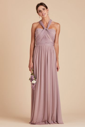 Chicky Convertible Bridesmaid Dress in Mauve | Birdy Grey