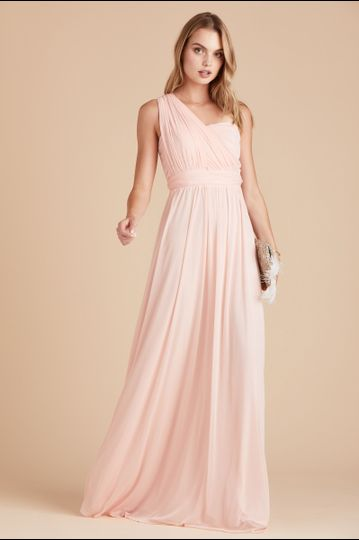 bb2f92f5415 Gray dress Chicky Convertible Bridesmaid Dress in Blush Pink