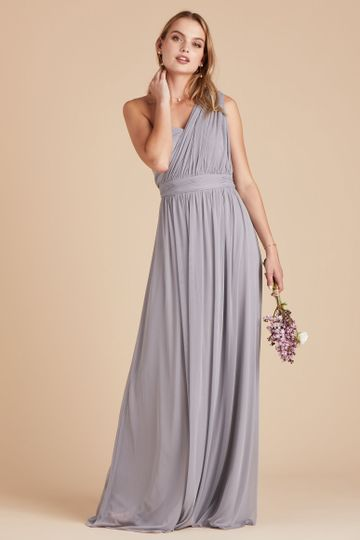Chicky Convertible Bridesmaid Dress in Silver | Birdy Grey