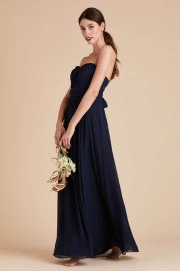 Chicky Convertible Bridesmaid Dress in Navy | Birdy Grey