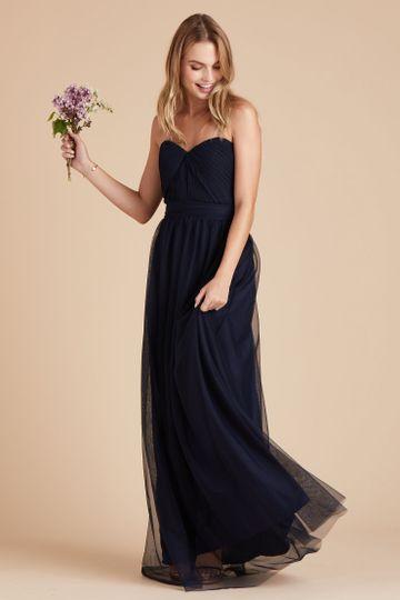 Christina Convertible Tulle Bridesmaid Dress in Slate | Birdy Grey