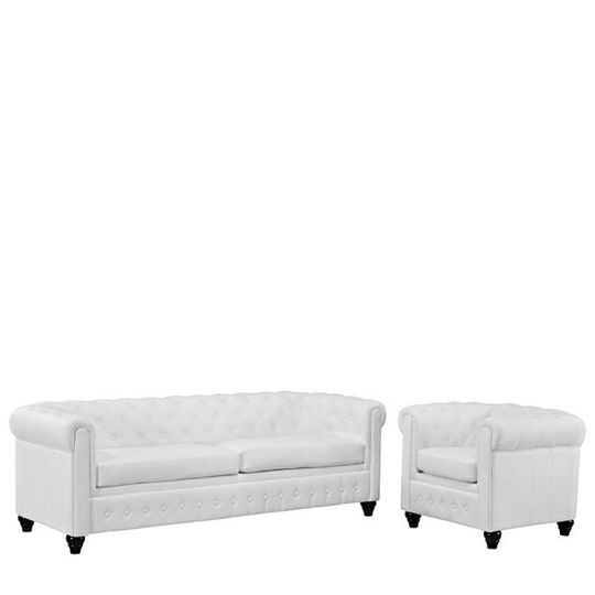 white chesterfield chairside of chair view