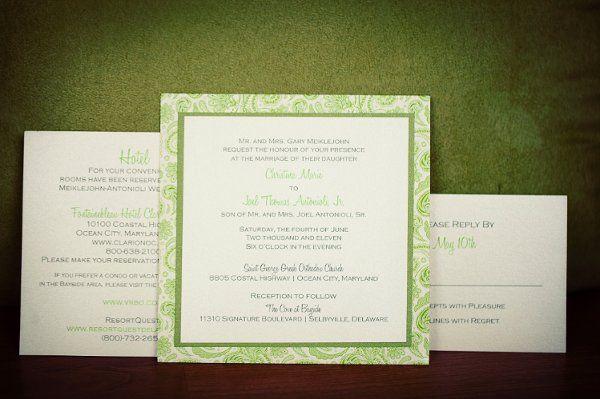 Paisley Layered Wedding Invitation