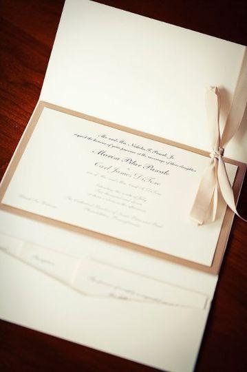 Elegant Pocketfold Wedding Invitation
