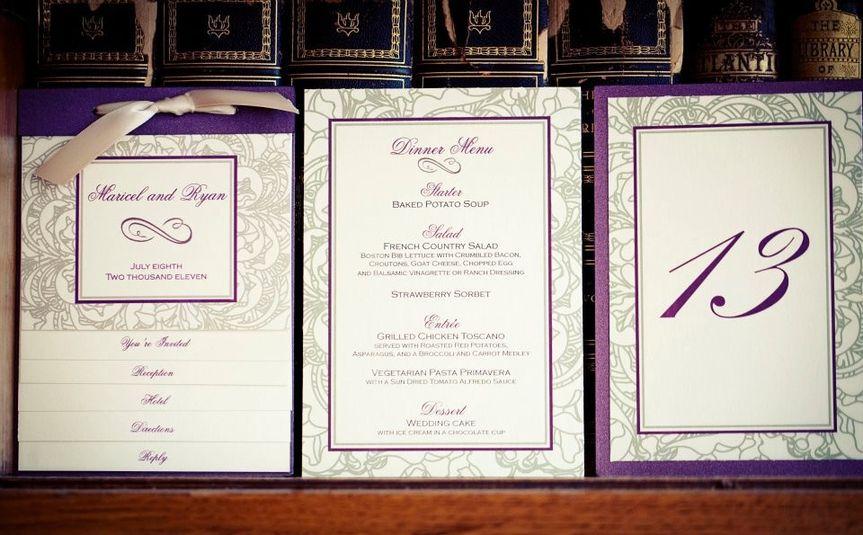 Flourish Swirl Wedding Booklet Wedding Invitation