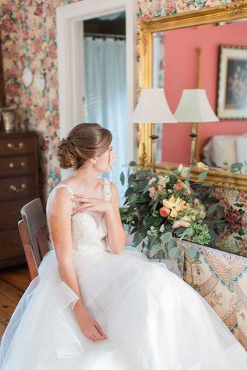 Bride in get-ready room