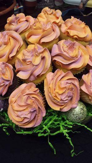 easter sherbert cupcake bouque