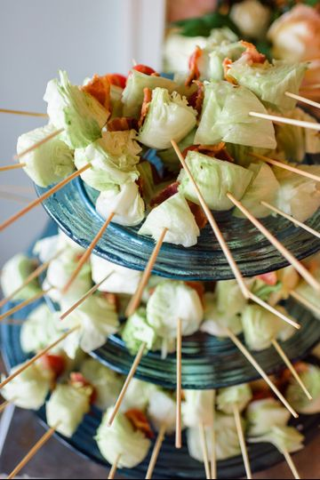 Appetizers on sticks