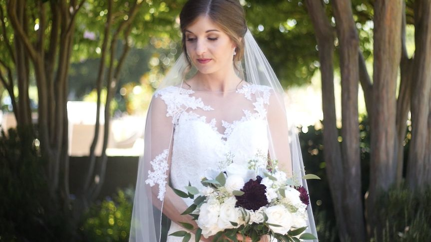 Bride with bouquet
