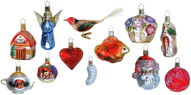 12 Inge-glas Ornaments - Part of the Bridal Collection where each has significance to a new Bride