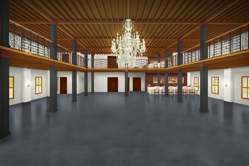 View from stage rendering
