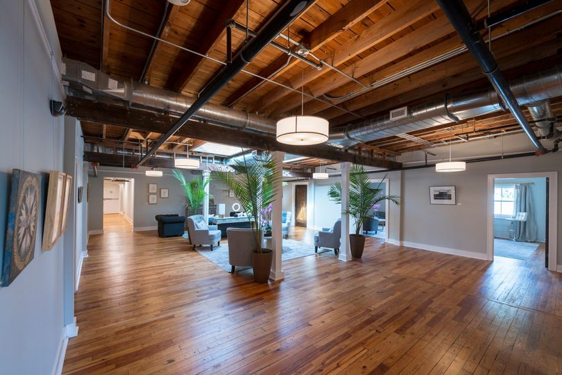 Third floor reception area