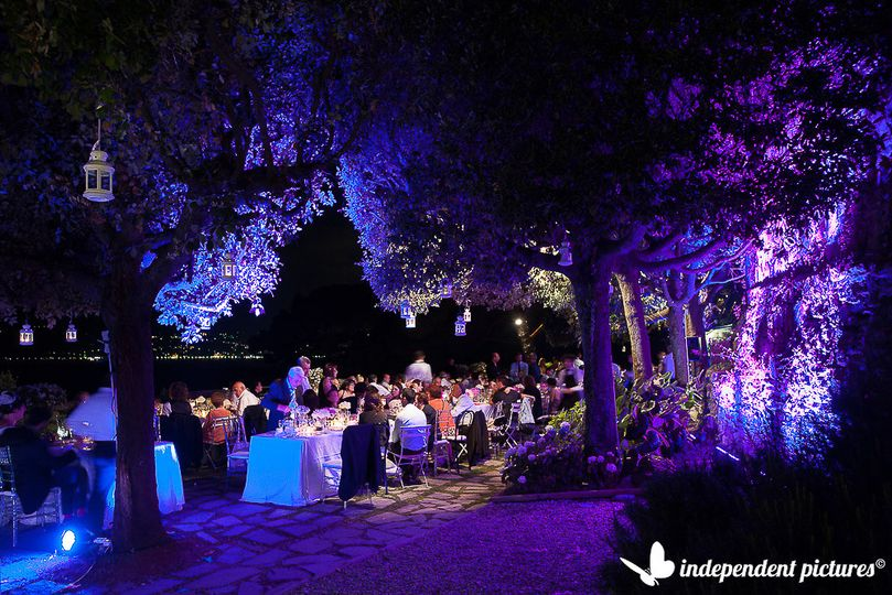 Let's say it, the lights enhance the venues, take a look at this stunning garden near Portofino. We...