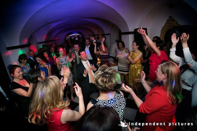 Audiodress filling the dancefloor in Portofino. Image courtesy Independent Pictures Turin Italy