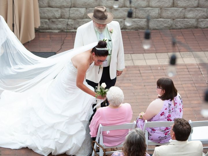 Tmx Hotzfield Fohey 8 3 18 Burlington Wi Bride Givels Flower To His Mom Shot From Above 51 15455 Addison, IL wedding officiant