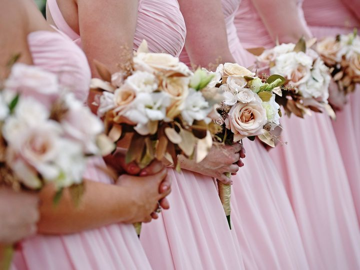 Tmx Jakstas Mazzarella 6 17 17 Eaglewood Itasca Brdiesmaids Holding Their Flowers In A Straight Neat Row 51 15455 V1 Addison, IL wedding officiant