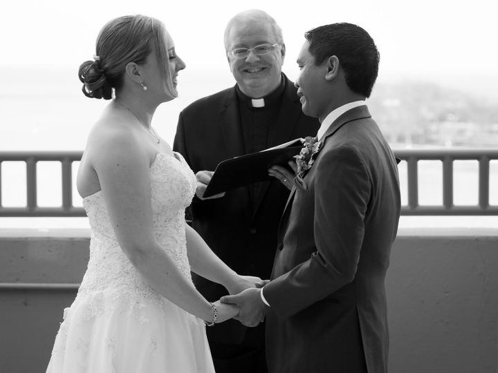 Tmx Kubiniec Abalos 5 5 18 Chicago Black And White Photo Phil And Bride Smiling Big 51 15455 V1 Addison, IL wedding officiant