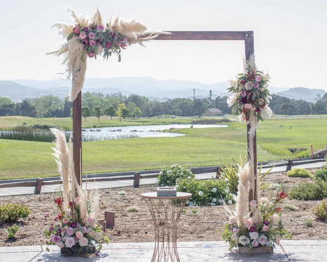 Ceremony arch details