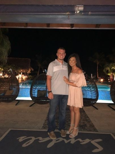 Couple Honeymooning at Sandals