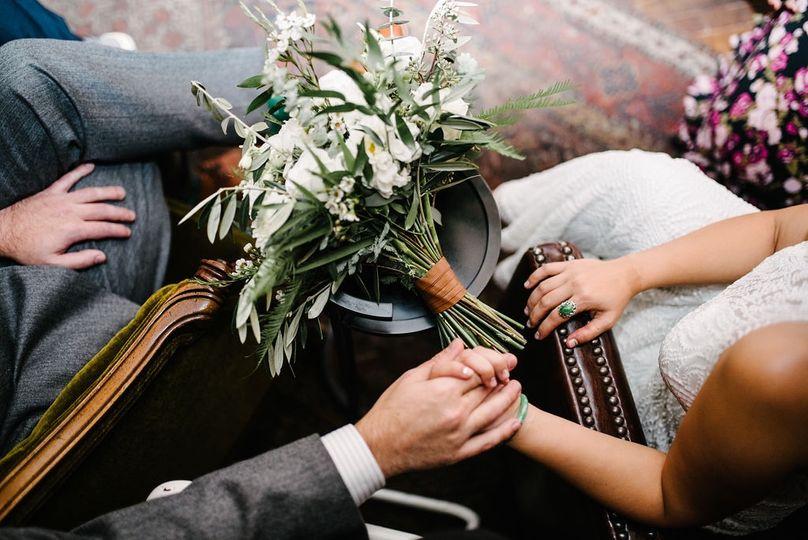 Hands and florals