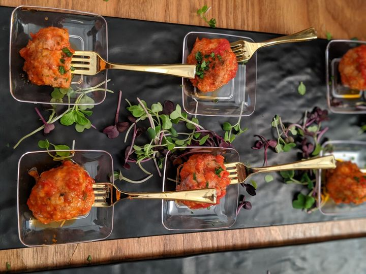 Classic passed hors d'oeuvres