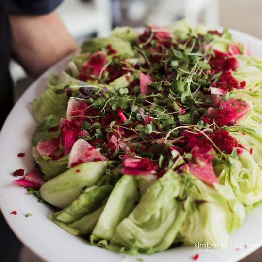 Family plated salad