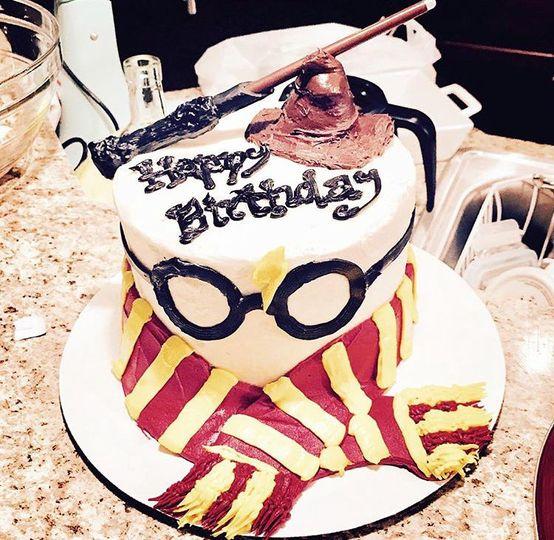 Harry Potter themed cake.