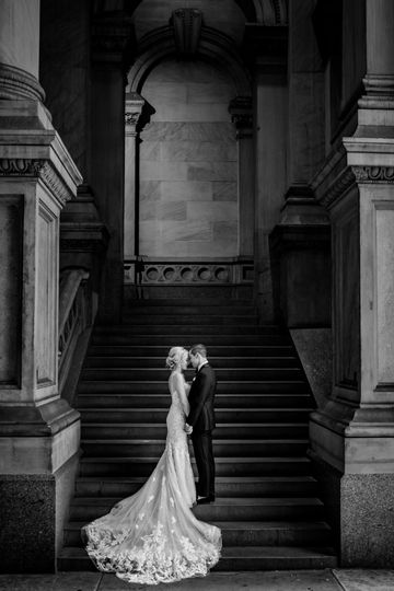 City Hall wedding portraits.