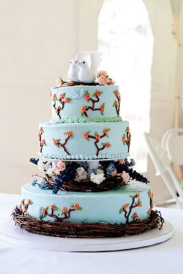 3 layered wedding cake