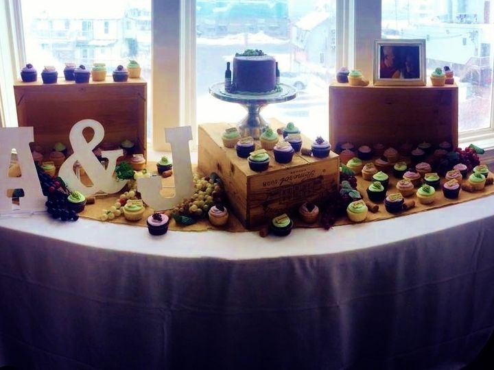 Tmx 1430019939727 Cupcake Table Wine Theme North Weymouth, MA wedding cake