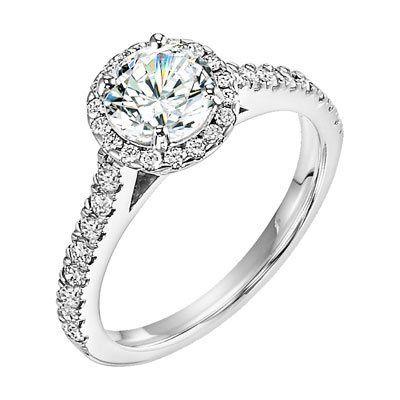 Studded diamond ring