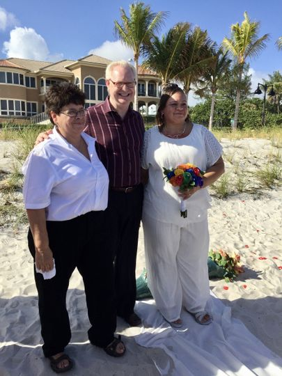 Sharon and Sonya beautiful Florida winter beach wedding