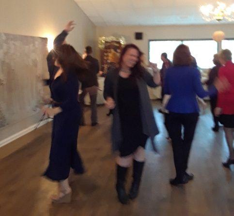 Dancing fun at reception